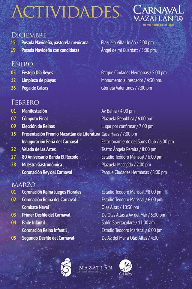 Eventos del Carnaval